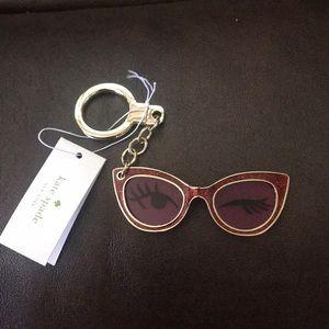 Kate Spade wink sunglasses keychain